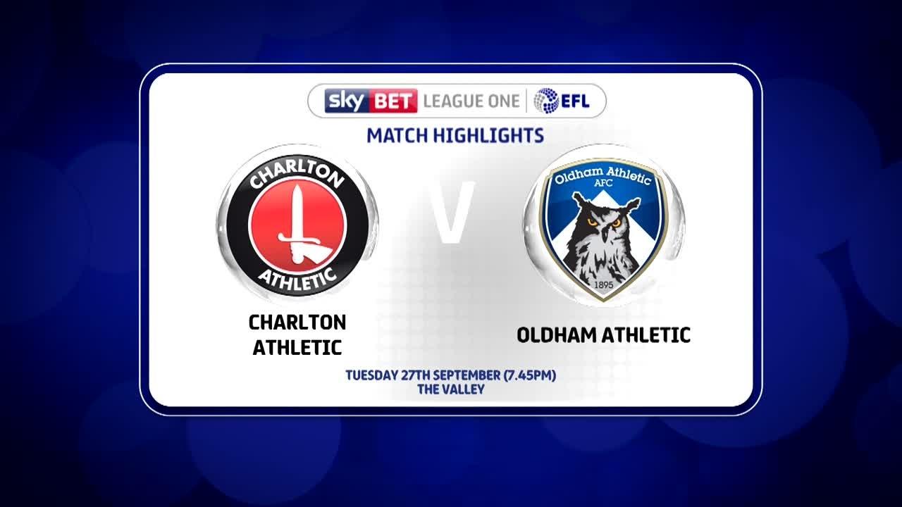 12 HIGHLIGHTS | Charlton 1 Oldham 1 (Sept 2016)