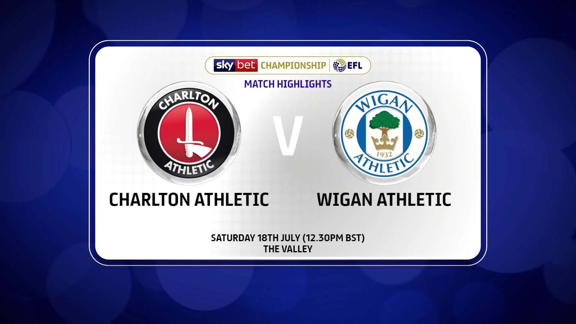 HIGHLIGHTS | Charlton 2 Wigan 2 (July 2020)