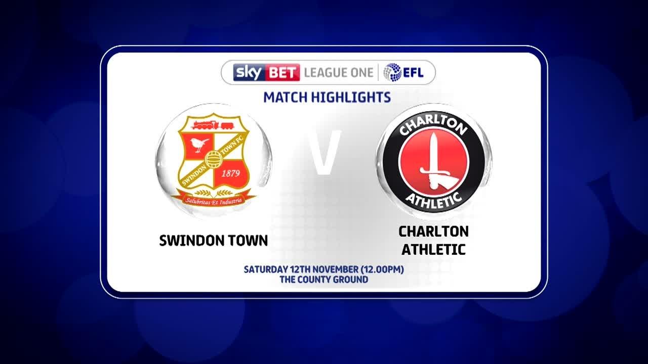 21 HIGHLIGHTS | Swindon 3 Charlton 0 (Nov 2016)