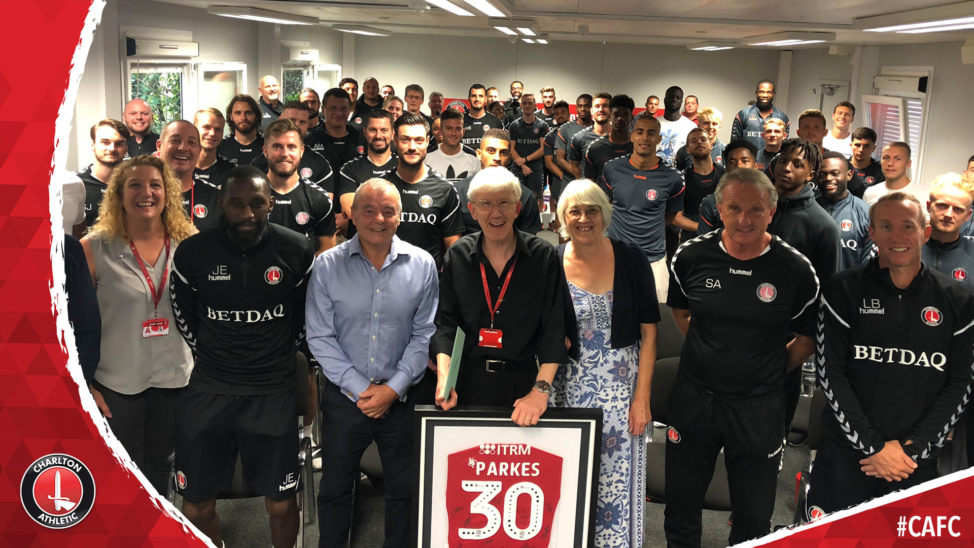 Club secretary Chris Parkes celebrates 30 years at Charlton