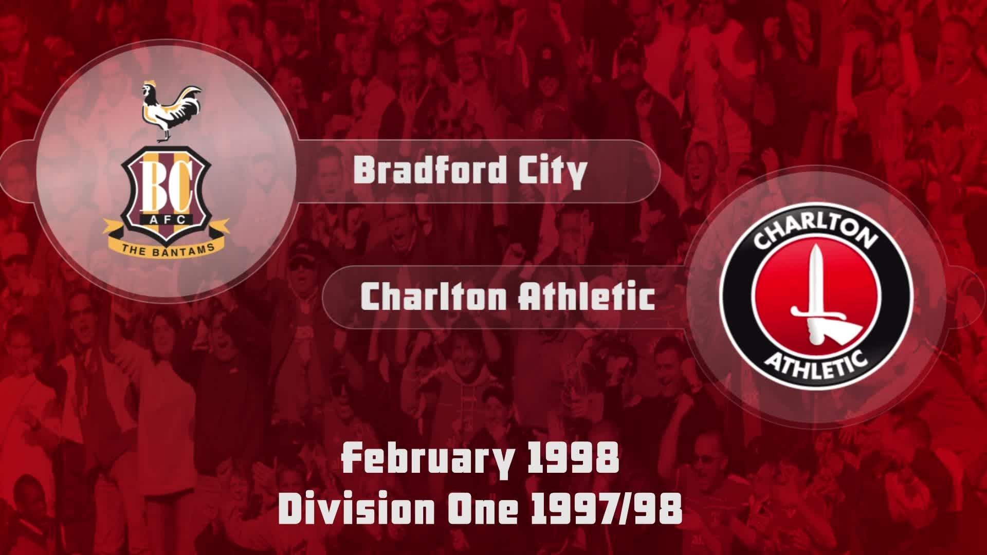 35 HIGHLIGHTS | Bradford 1 Charlton 0 (Feb 1998)