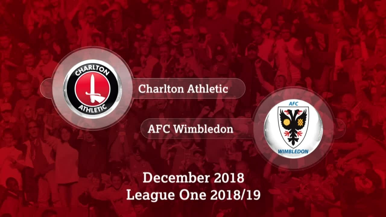 GOALS | Charlton 2 Wimbledon 0 (December 2018)