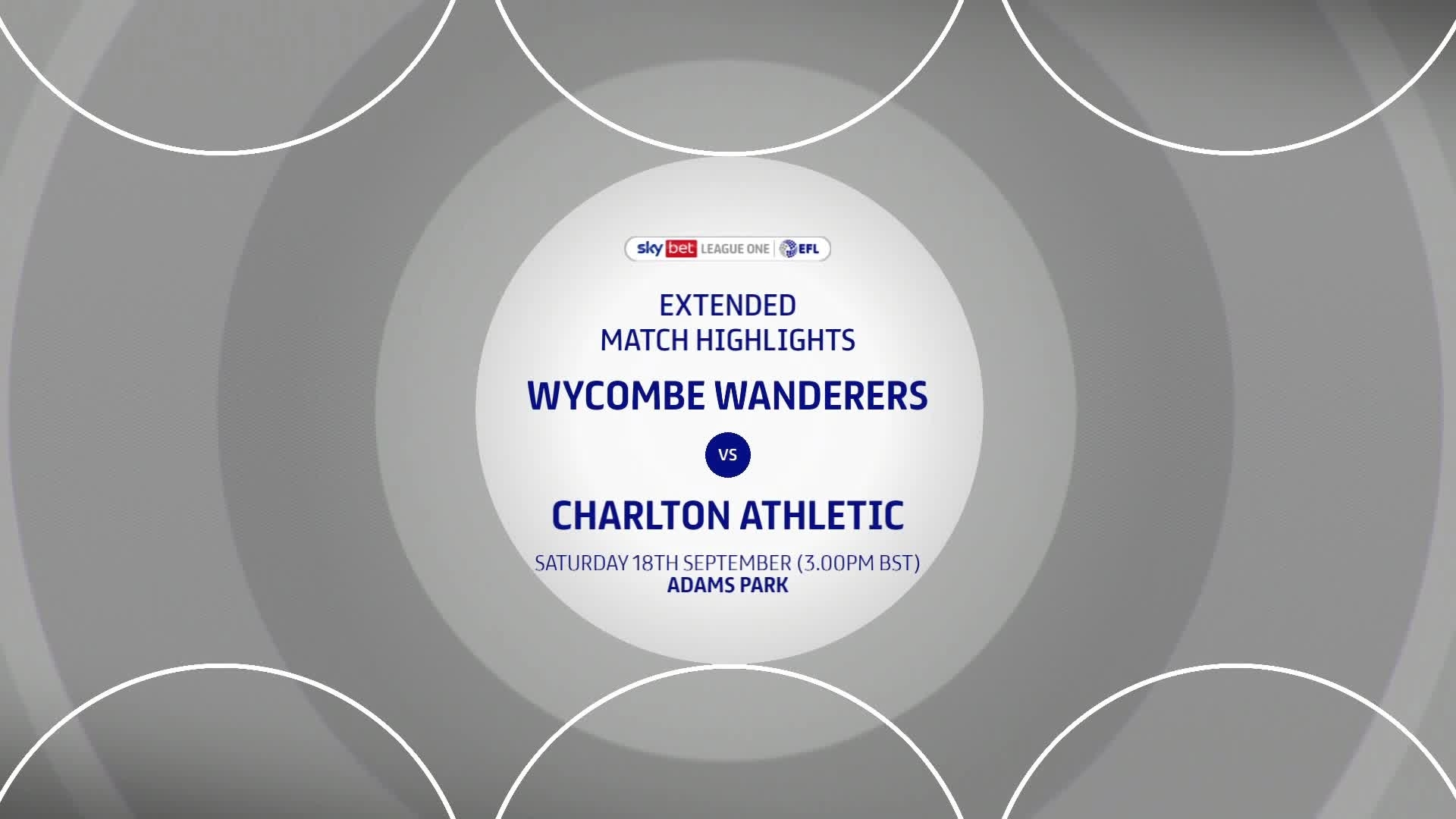 HIGHLIGHTS | Wycombe Wanderers 2 Charlton 1 (September 2021)