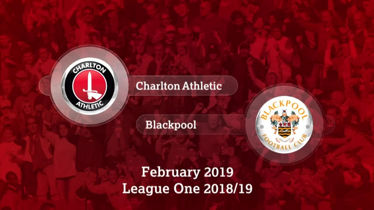 GOALS | Charlton 0 Blackpool 0 (February 2019)