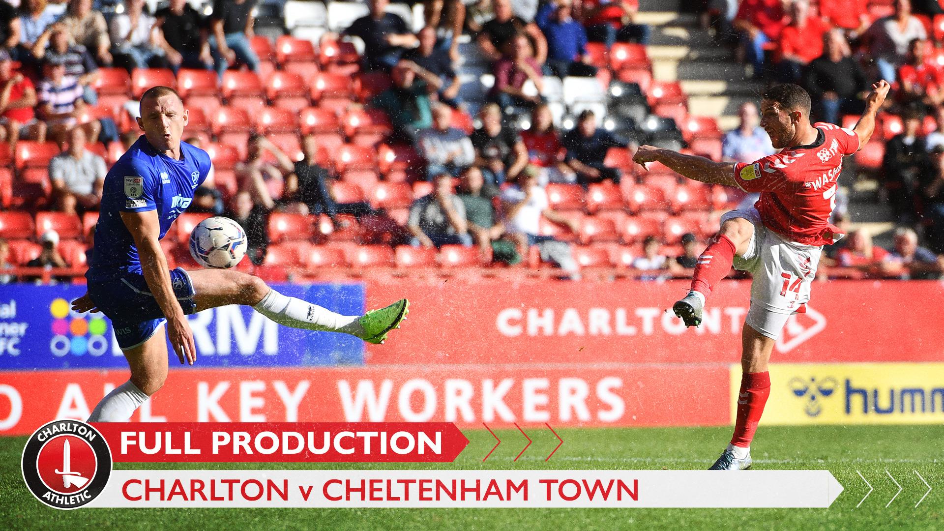 CharltonTV | Full broadcast - Cheltenham Town (h) (September 2021)