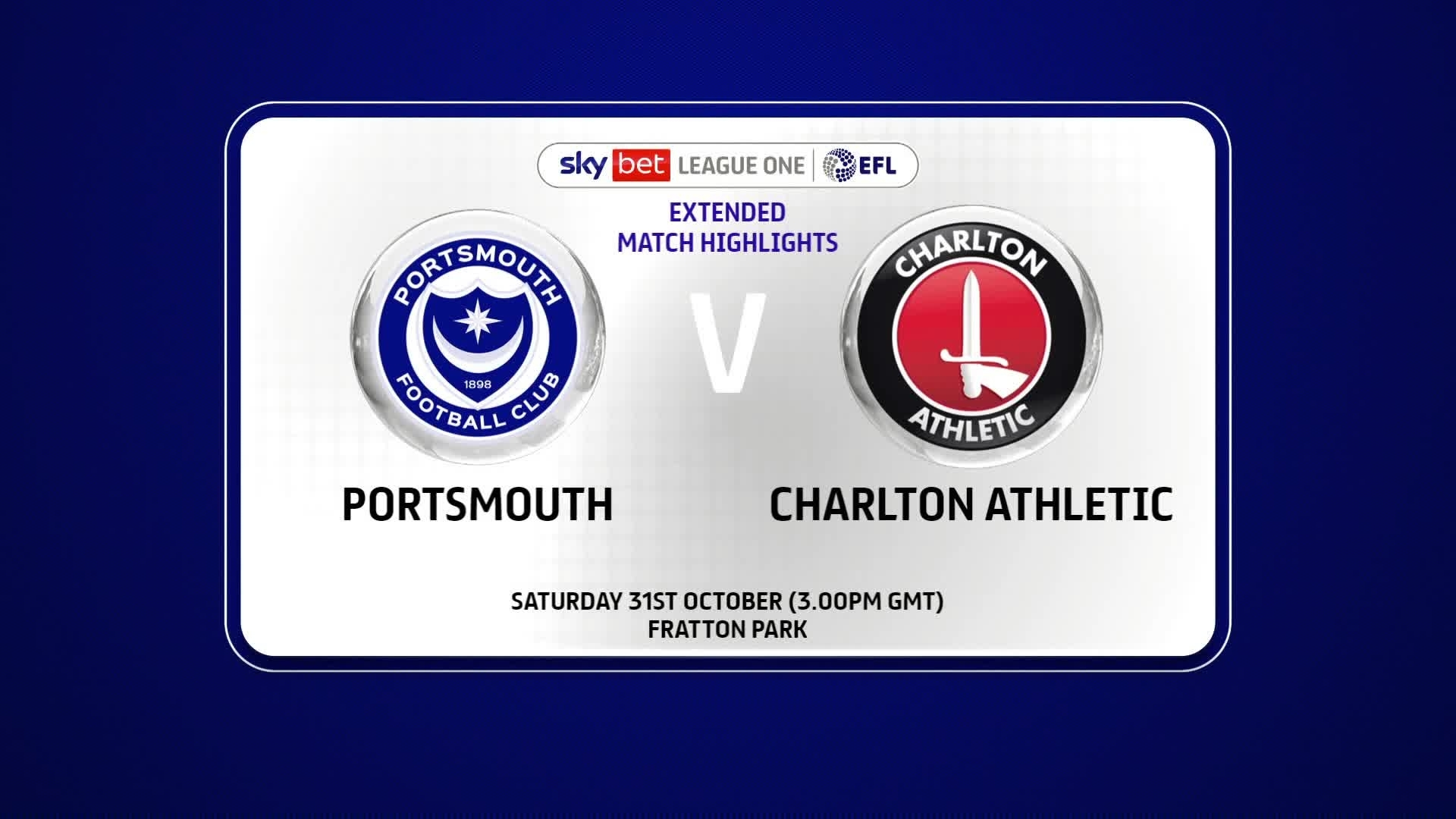 EXTENDED | Portsmouth 0 Charlton 2 (October 2020)
