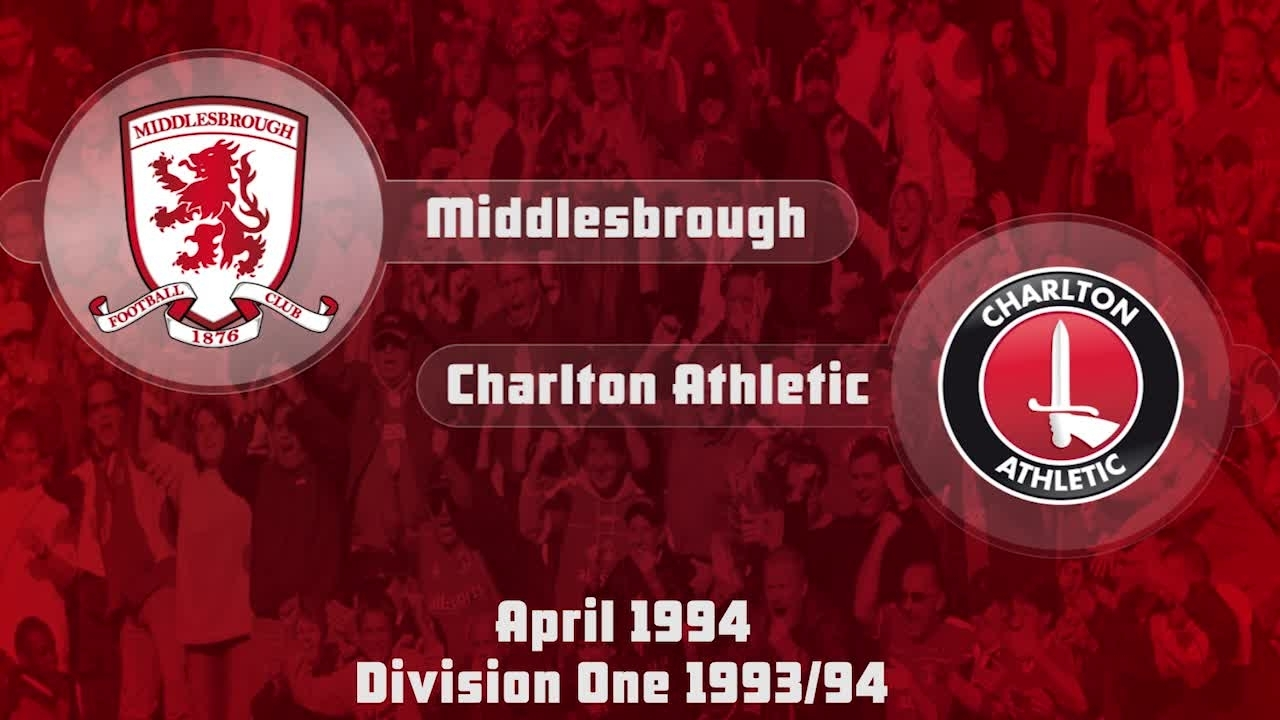55 HIGHLIGHTS | Middlesbrough 1 Charlton 0 (April 1994)