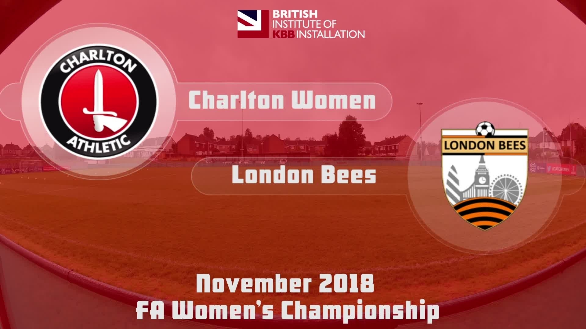 WOMEN HIGHLIGHTS | Charlton 2 London Bees 0 (Nov 2018)
