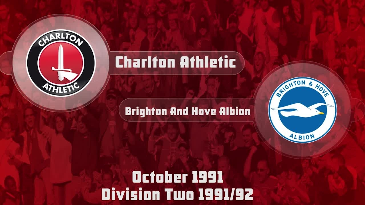 17 HIGHLIGHTS | Charlton 2 Brighton & Hove 0 (Oct 1991)