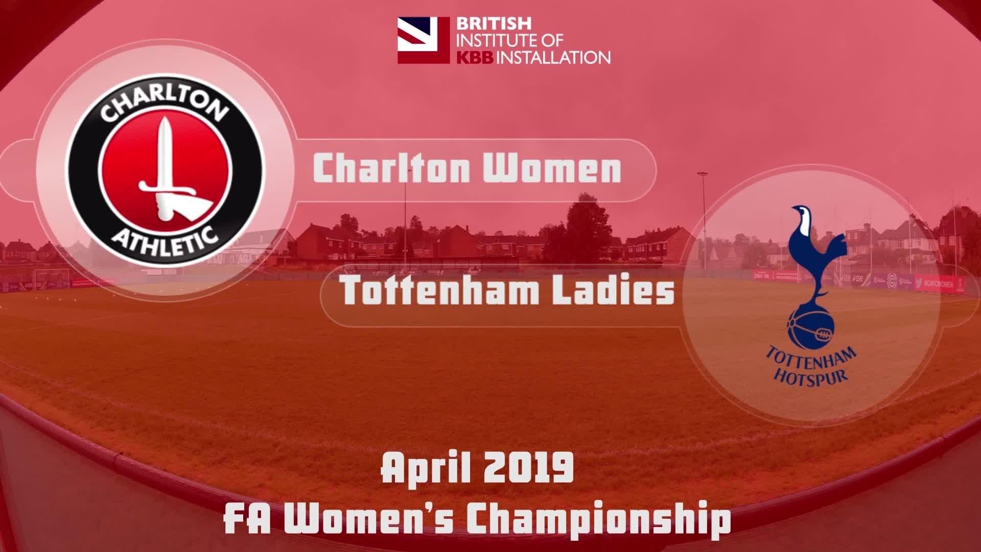 HIGHLIGHTS   Charlton Women 2 Tottenham Ladies 3