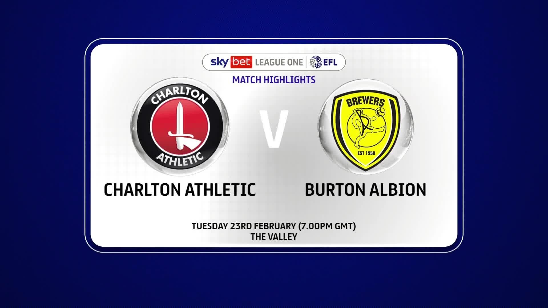 HIGHLIGHTS | Charlton 1 Burton Albion 2 (Feb 2021)