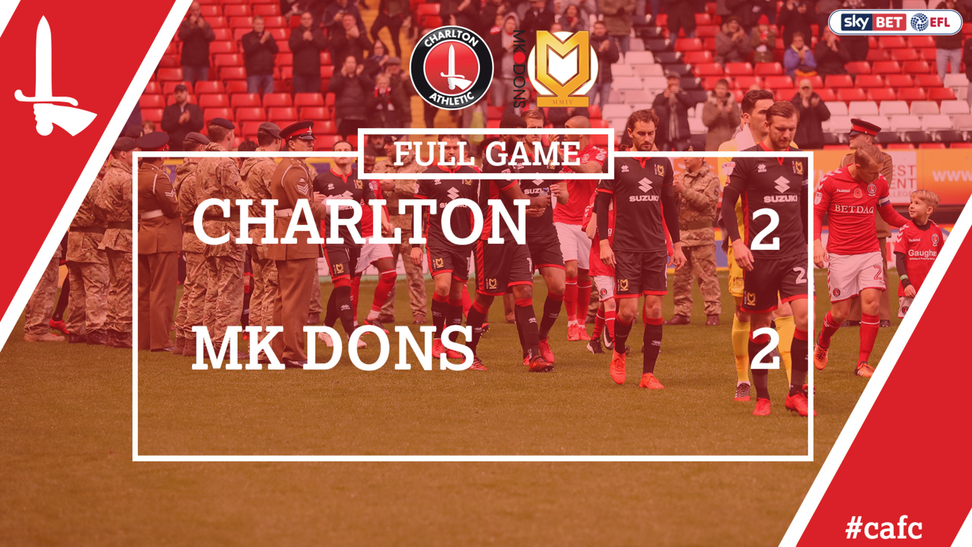 FULL GAME | Charlton 2 MK Dons 2 (Nov 2017)