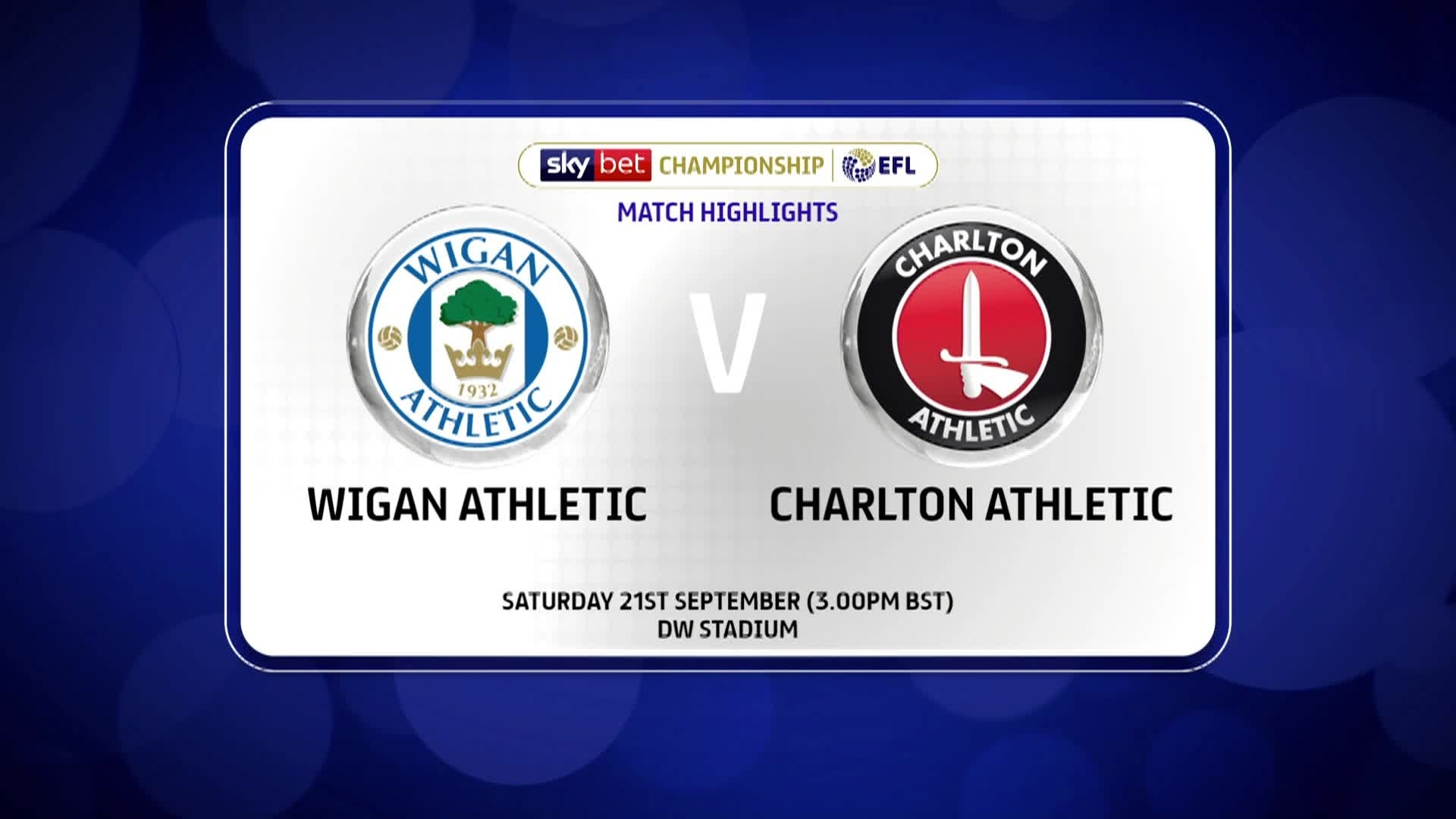 GOALS | Wigan Athletic 2 Charlton 0 (September 2019)