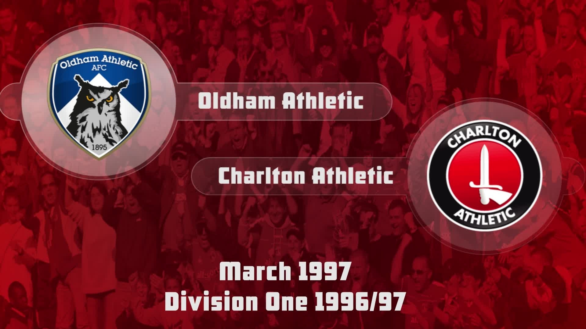 43 HIGHLIGHTS | Oldham 1 Charlton 1 (March 1997)