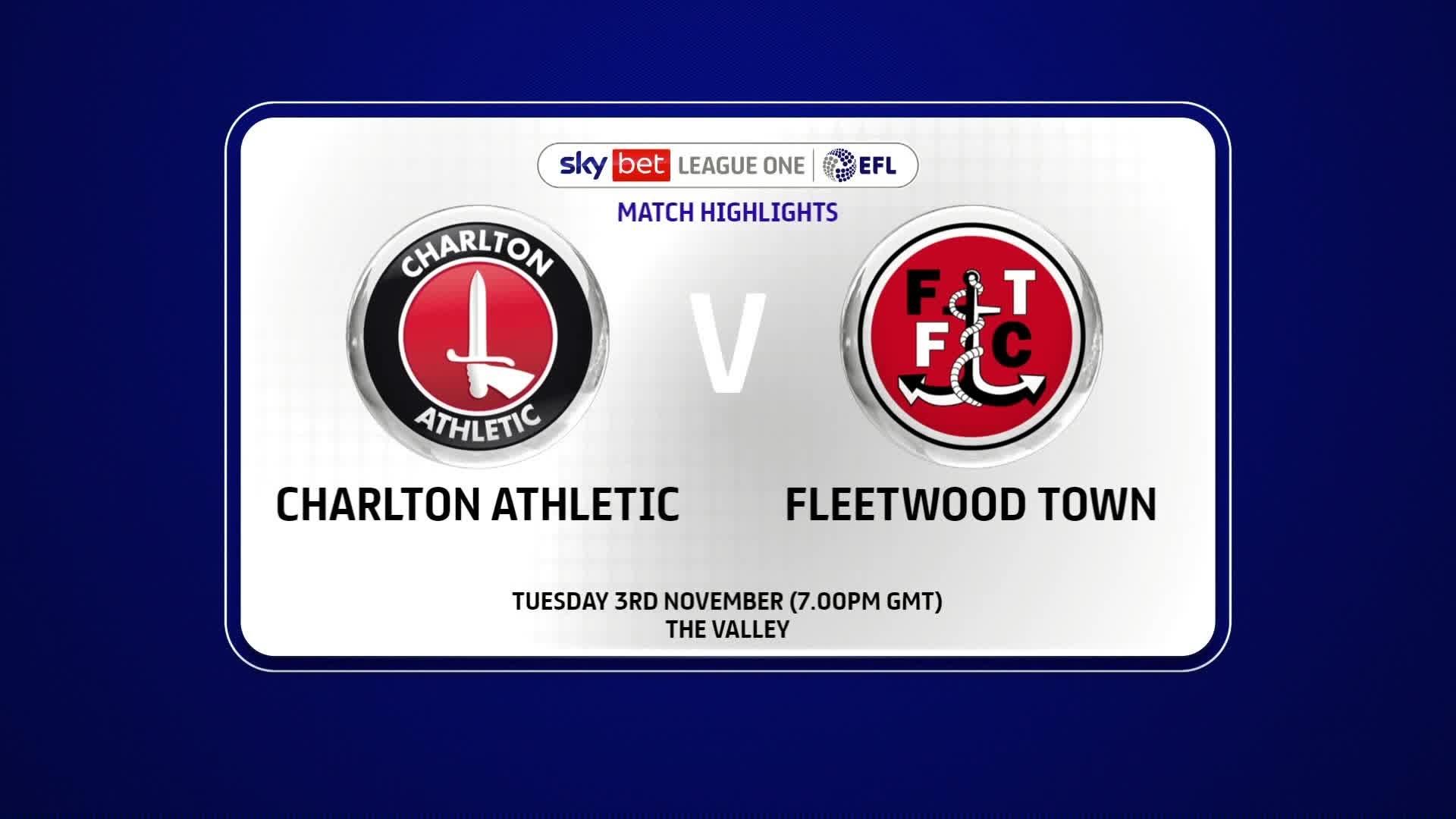 HIGHLIGHTS | Charlton 3 Fleetwood Town 2 (November 2020)