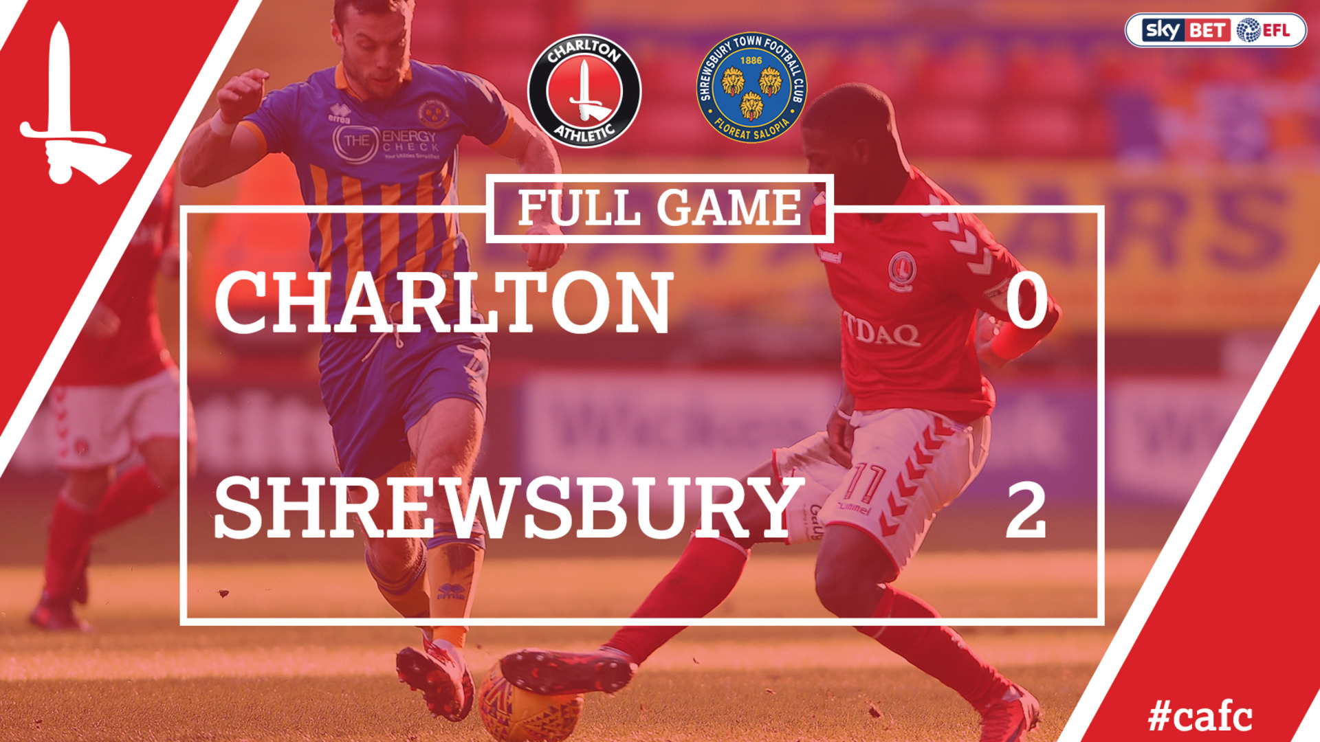 FULL GAME | Charlton 0 Shrewsbury 2 (Feb 2018)
