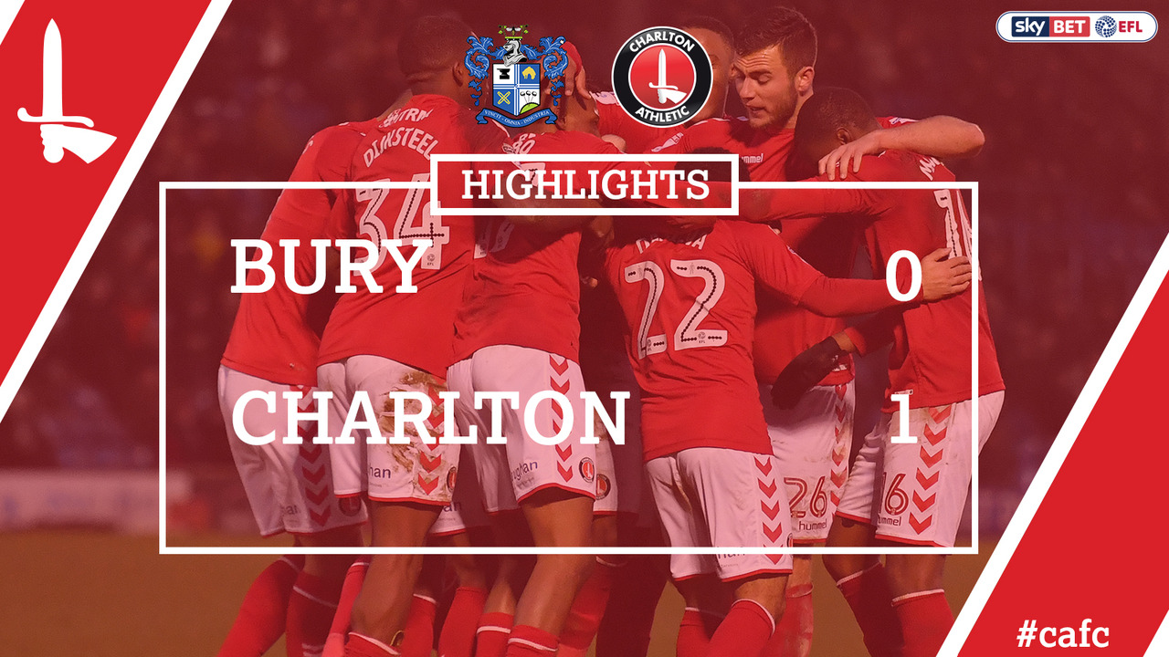 36 HIGHLIGHTS | Bury 0 Charlton 1 (Jan 2018)