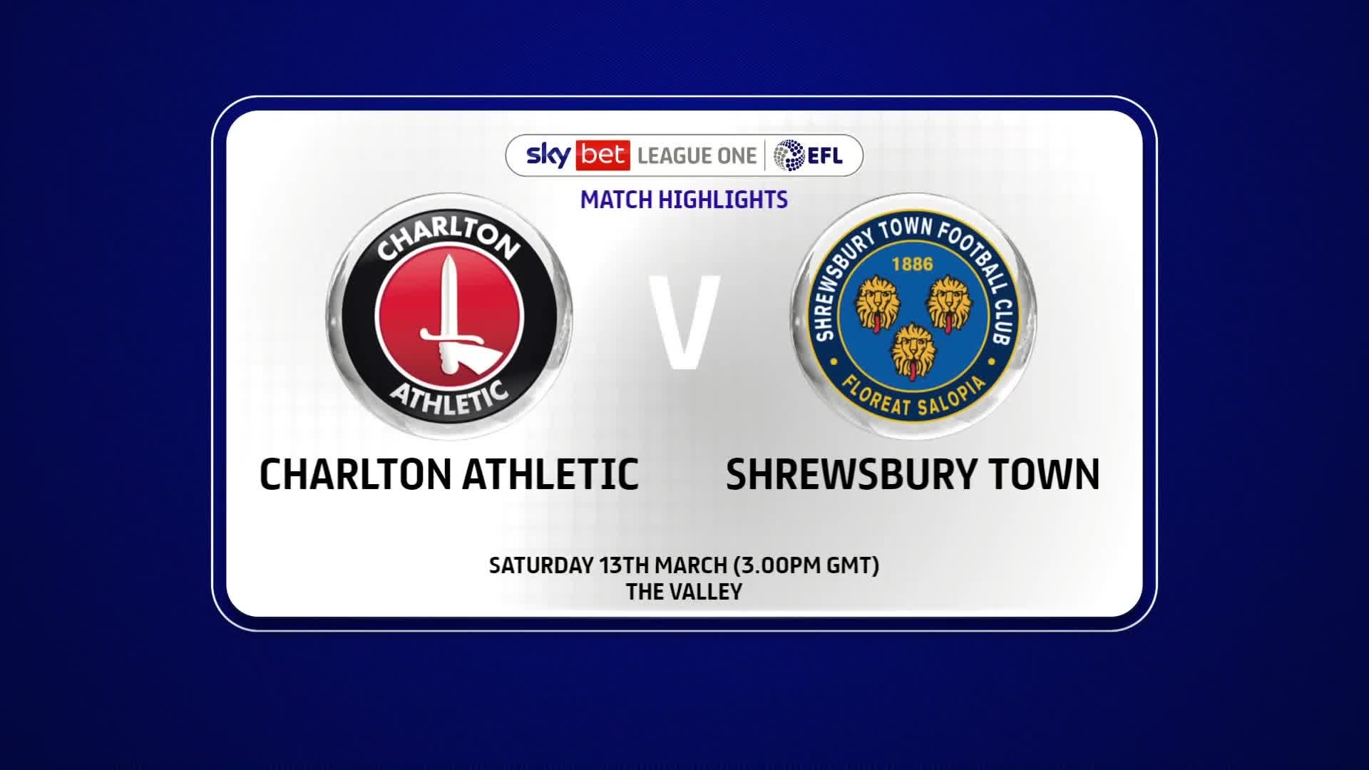 HIGHLIGHTS | Charlton 1 Shrewsbury Town 1 (March 2021)
