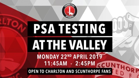 Chris Powell on getting his PSA Blood Test at tomorrow's game against Scunthorpe United