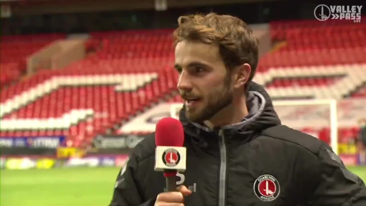 Andrew Shinnie spoke to Valley Pass live after his late goal against Swindon Town (January 2021)