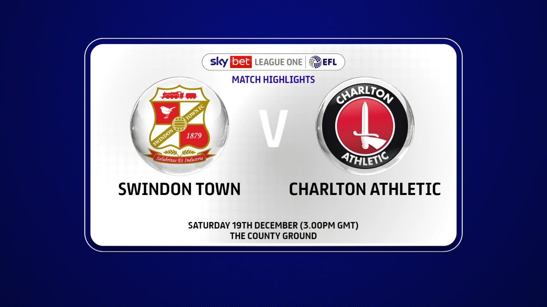 HIGHLIGHTS | Swindon Town 2 Charlton 2 (December 2020)