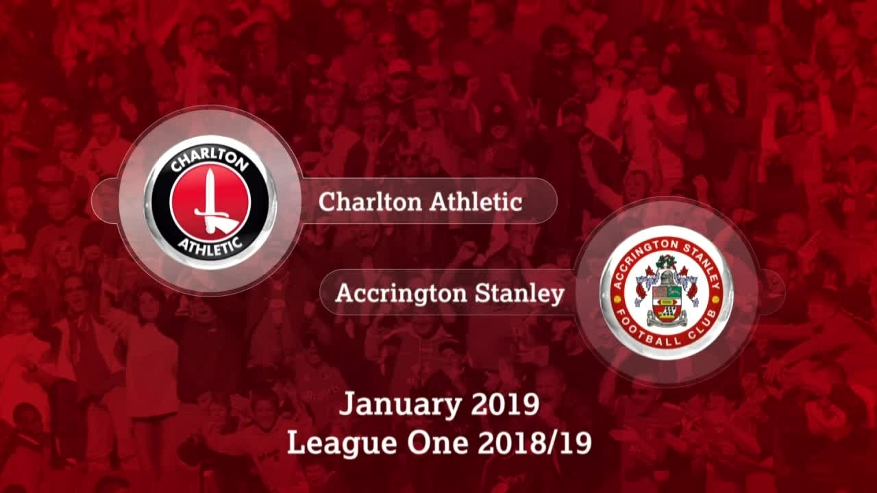 GOALS | Charlton 1 Accrington Stanley 0 (January 2019)