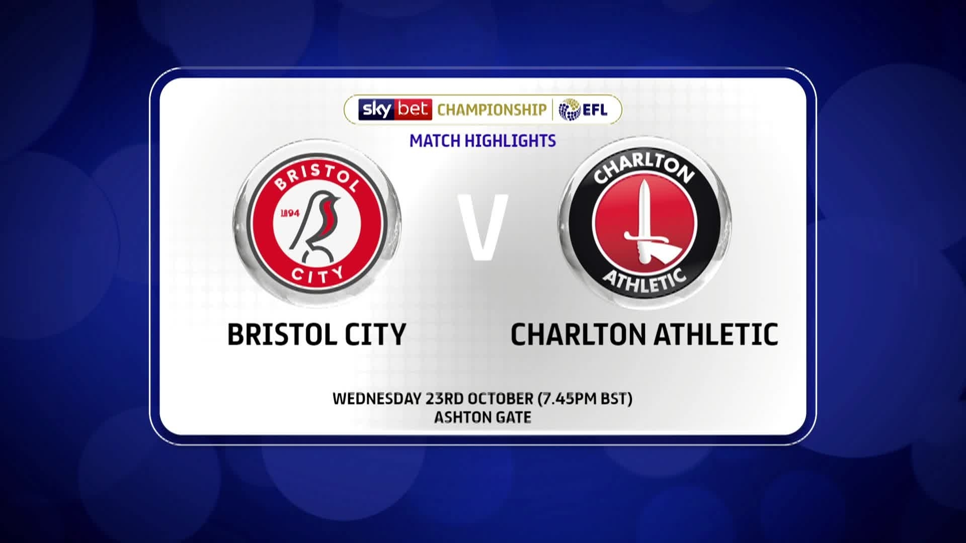 GOALS | Bristol City 2 Charlton 1 (October 2019)