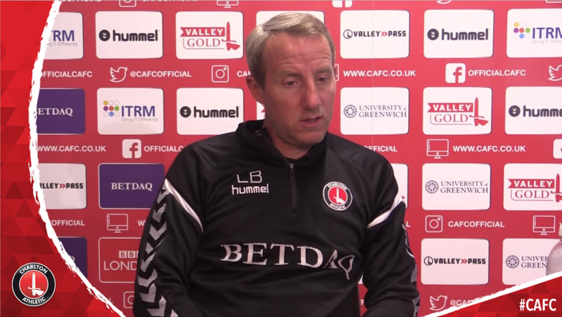 Lee Bowyer speaks ahead of Saturday's game at Gillingham (April 2019)