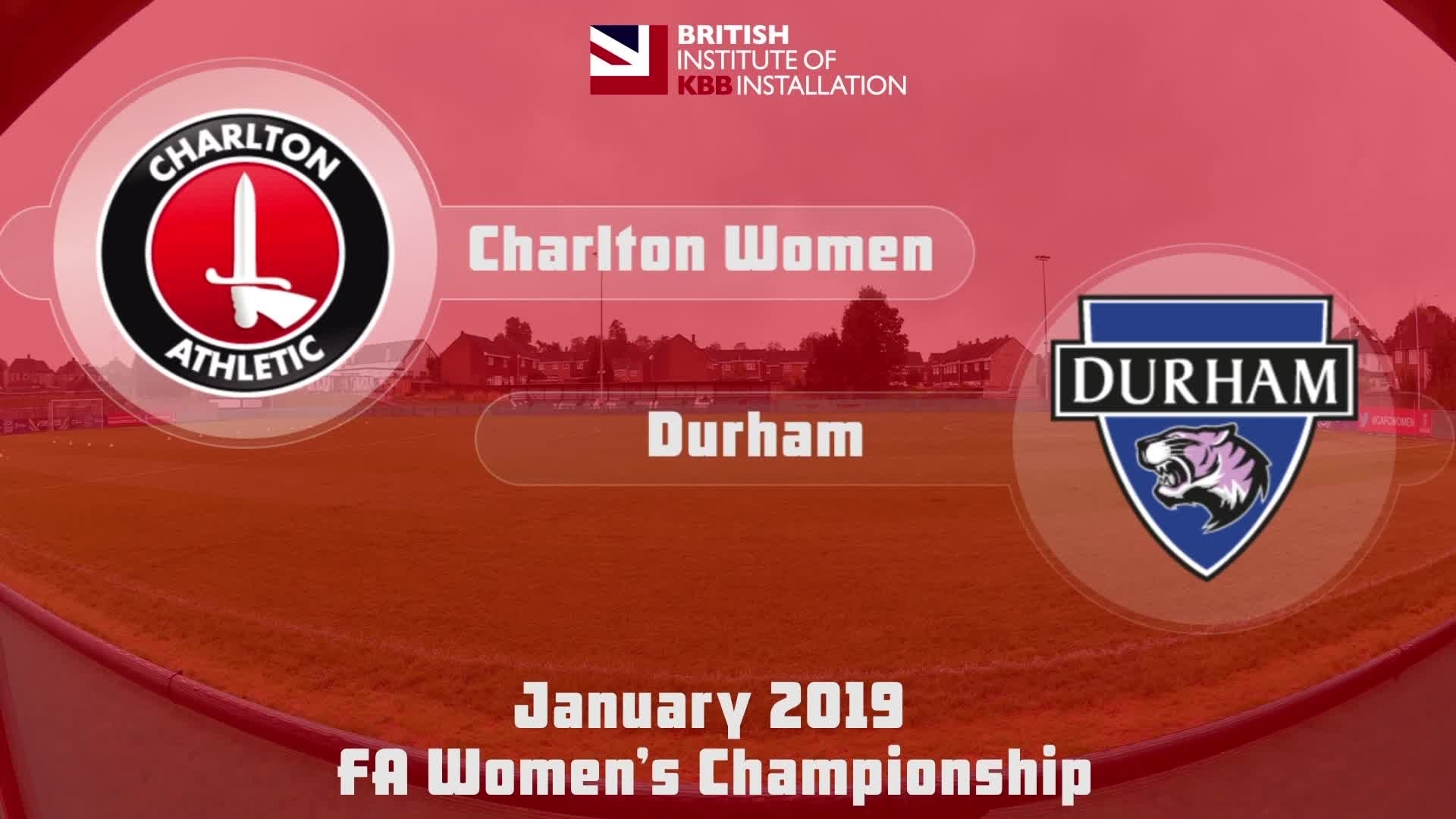 WOMEN HIGHLIGHTS | Charlton Women 2 Durham 2 (Jan 2019)
