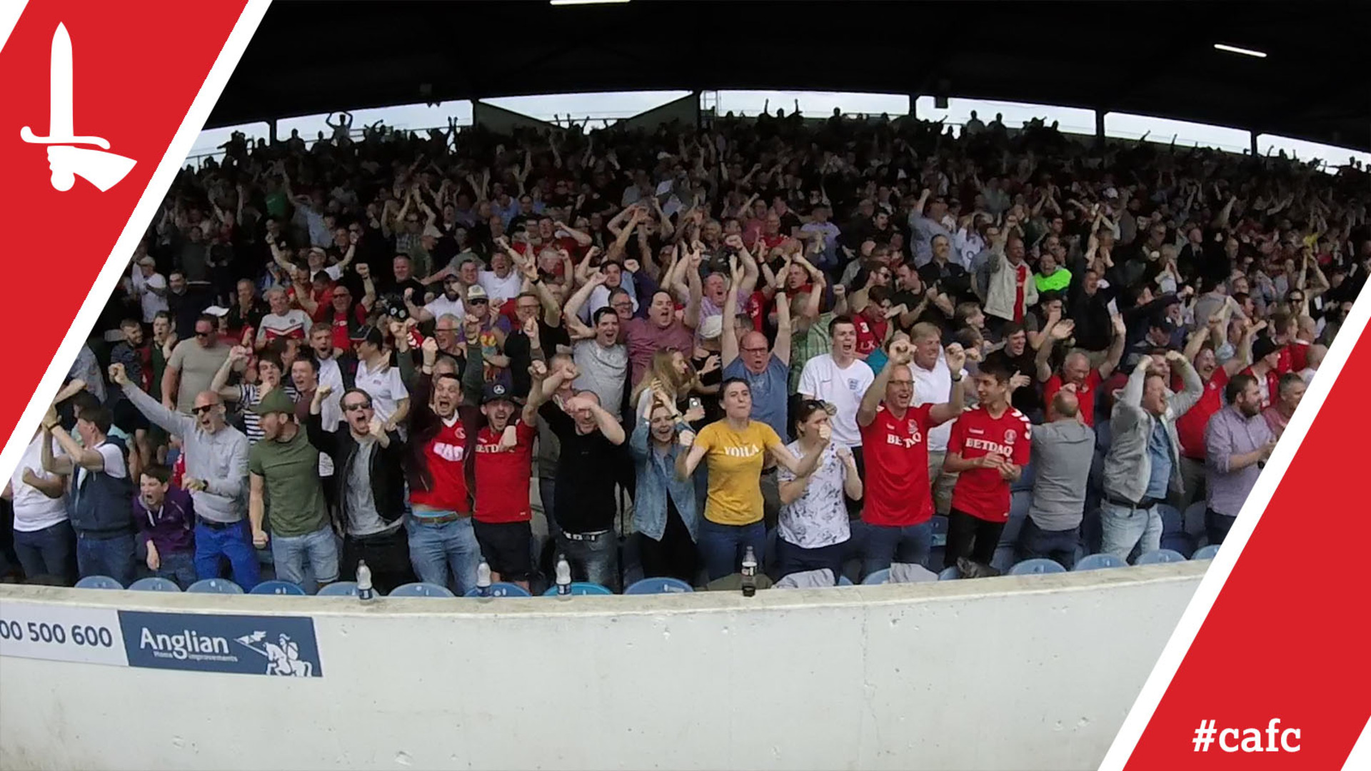 FAN CAM | Charlton's packed-out away end celebrate Nicky Ajose's goal and full-time at Portsmouth