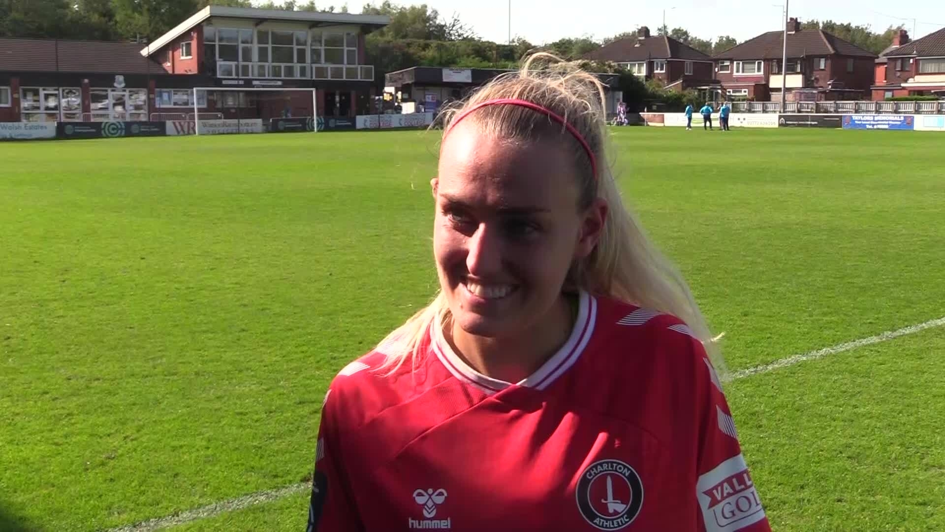Rachel Newborough speaks following Charlton Women's win (September 2020)