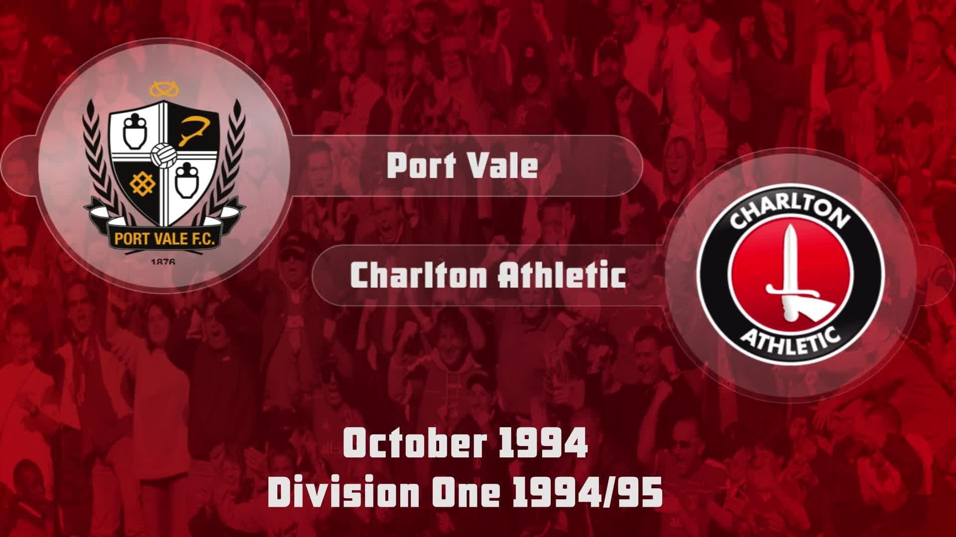 14 HIGHLIGHTS | Port Vale 0 Charlton 2 (Oct 1994)