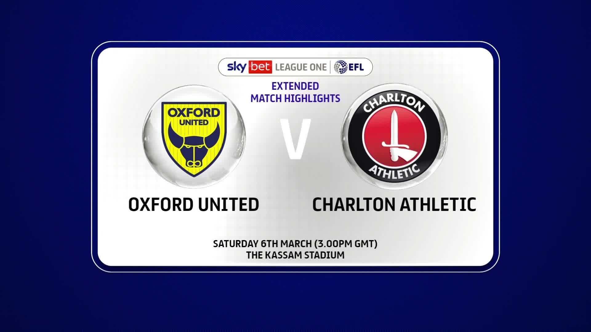 EXTENDED | Oxford United 0 Charlton 0 (March 2021)