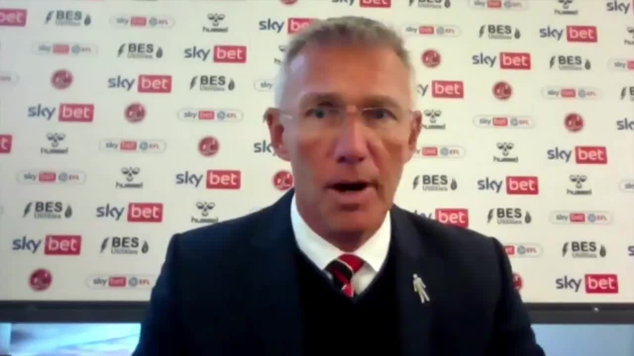 Nigel Adkins on Fleetwood victory (October 2021)