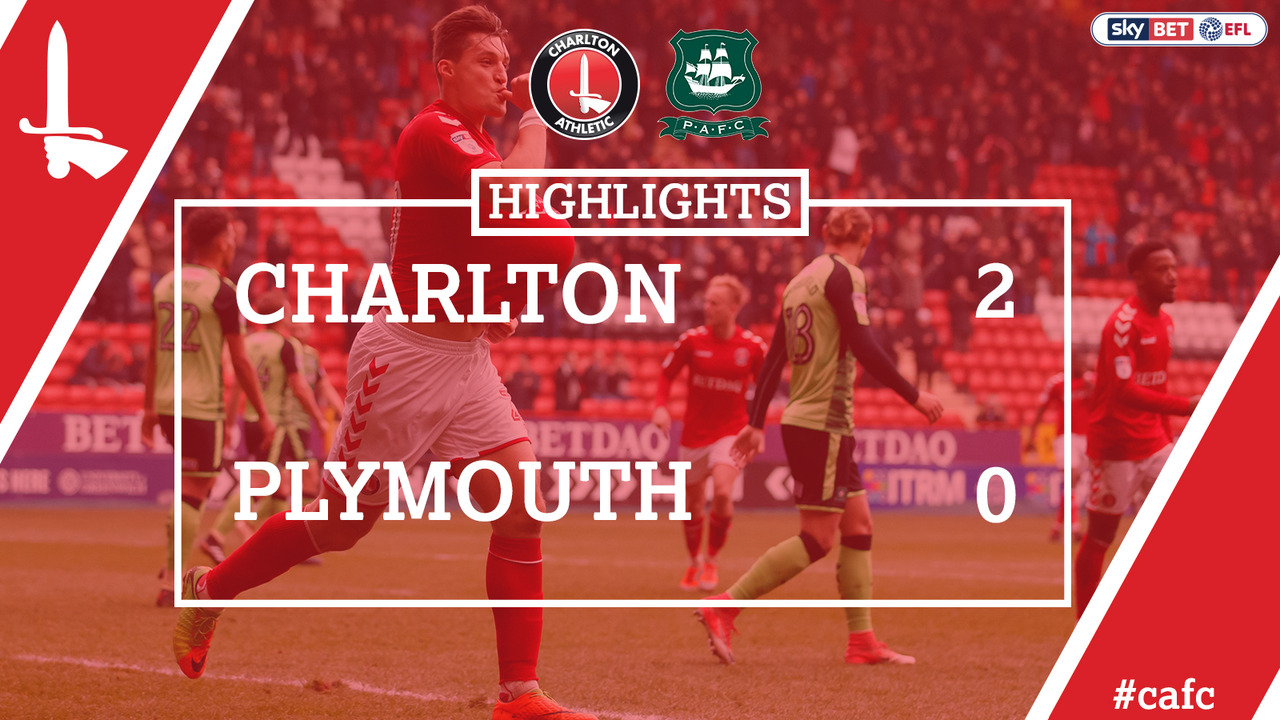 46 EXTENDED HIGHLIGHTS | Charlton 2 Plymouth 0 (Mar 2018)