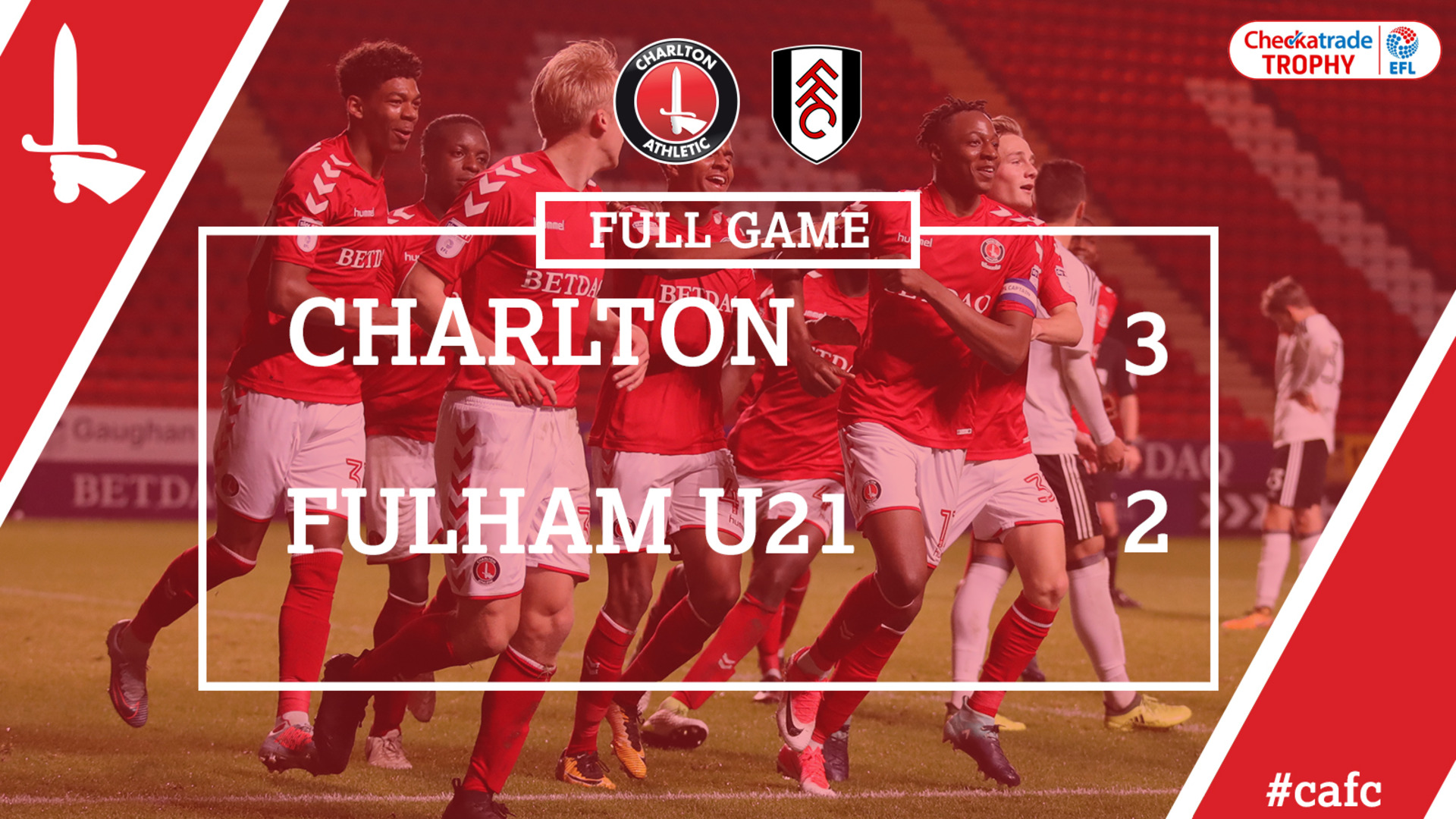 FULL GAME | Charlton 3 Fulham U21s 2