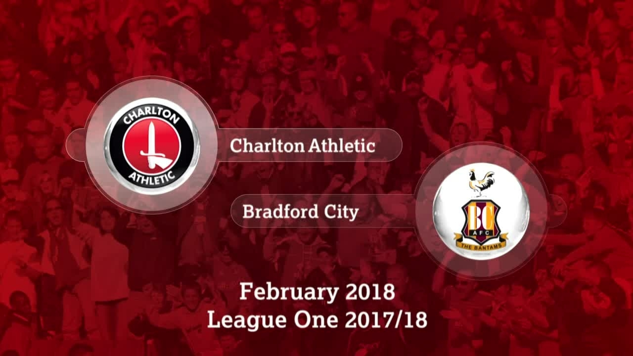 GOALS | Charlton 1 Bradford 1 (Feb 2018)