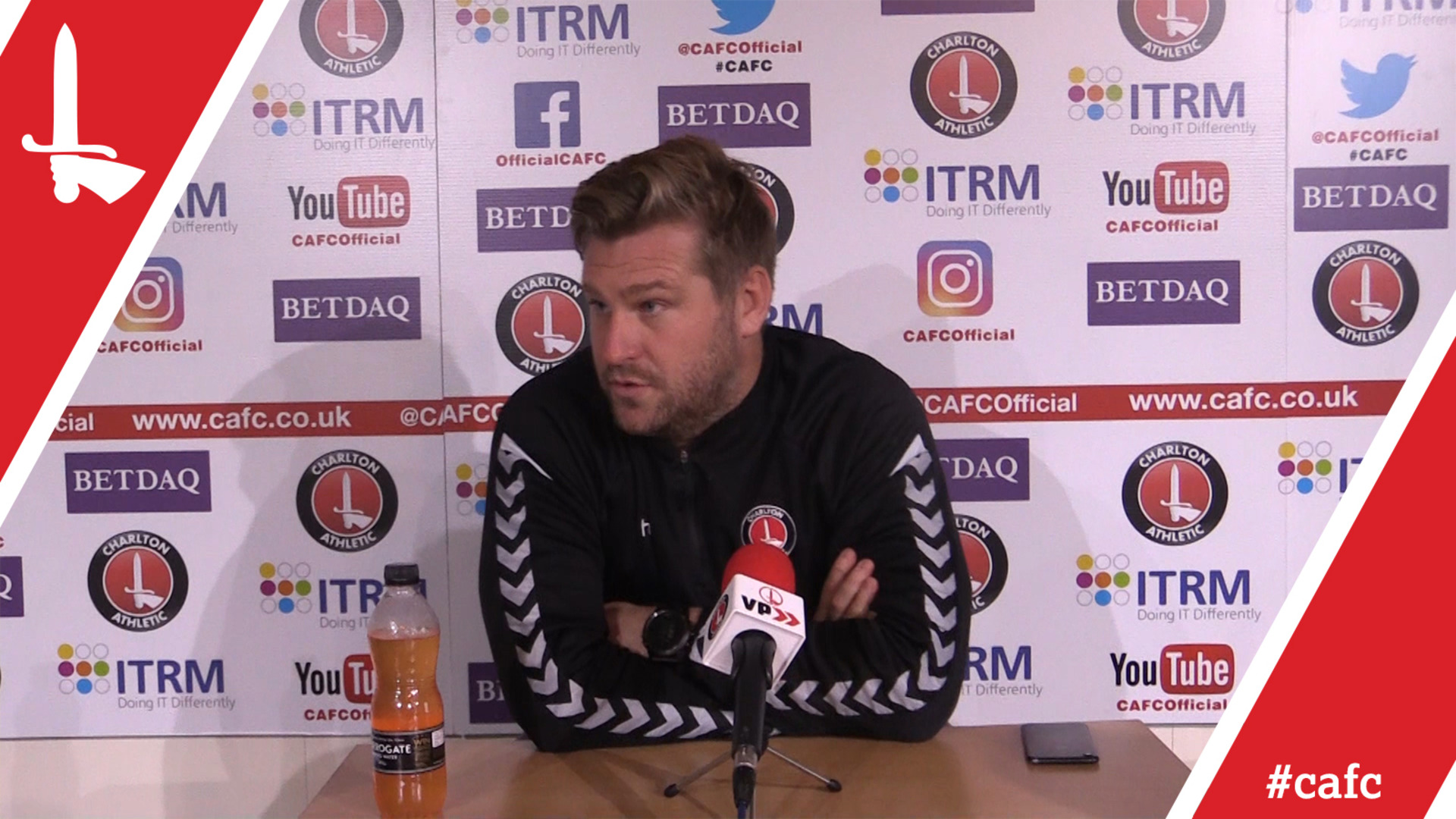 Karl Robinson looks ahead to the home clash against AFC Wimbledon