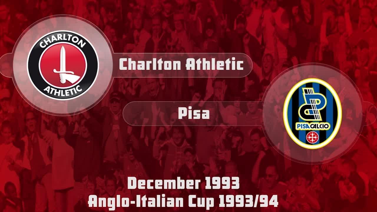 29 HIGHLIGHTS | Charlton 0 Pisa 3 (Anglo-Italian Cup Dec 1993)