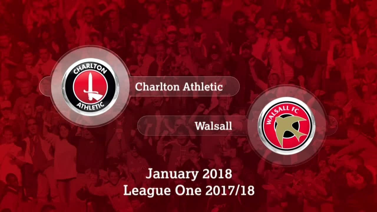 GOALS | Charlton 3 Walsall 1 (Jan 2018)
