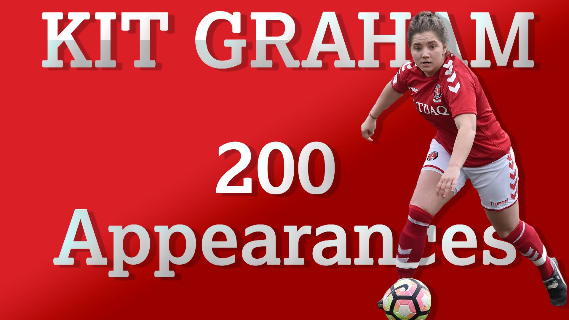 Kit Graham makes 200 appearances for the Charlton Women