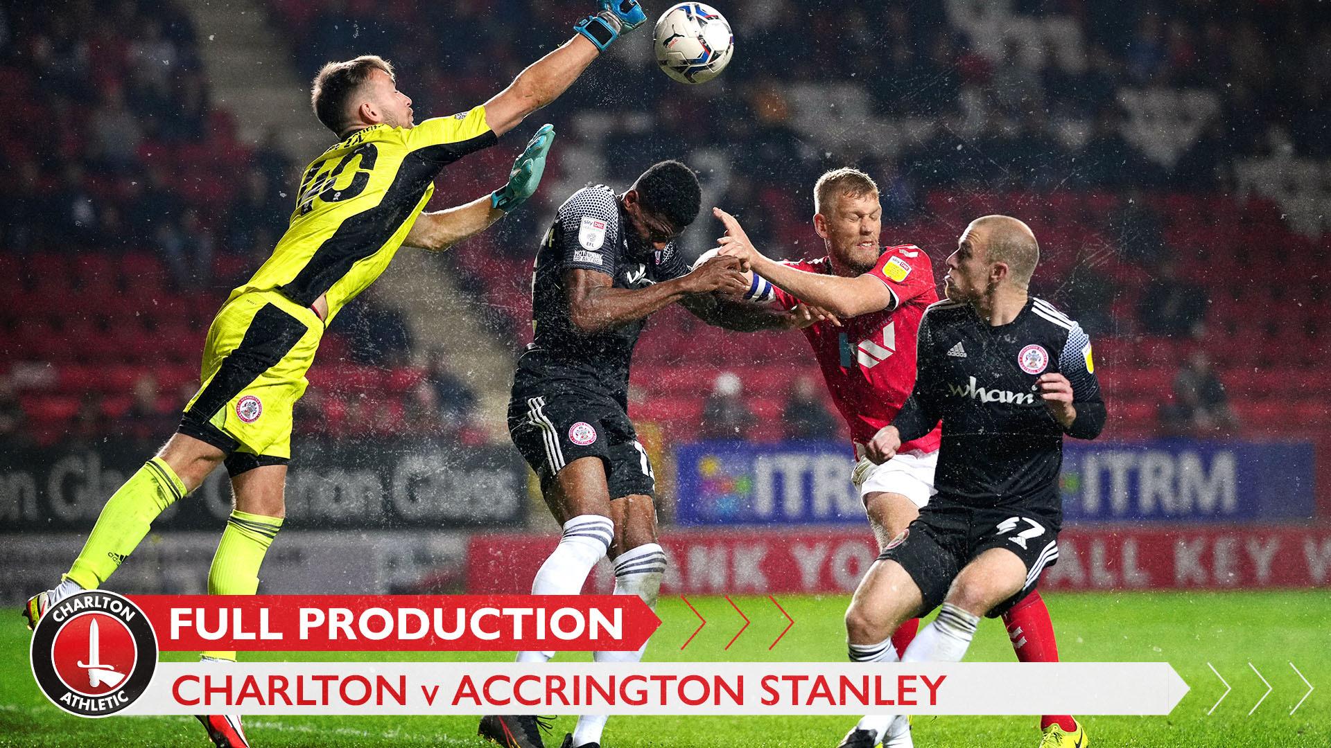 CharltonTV   Full broadcast - Accrington Stanley (October 2021)