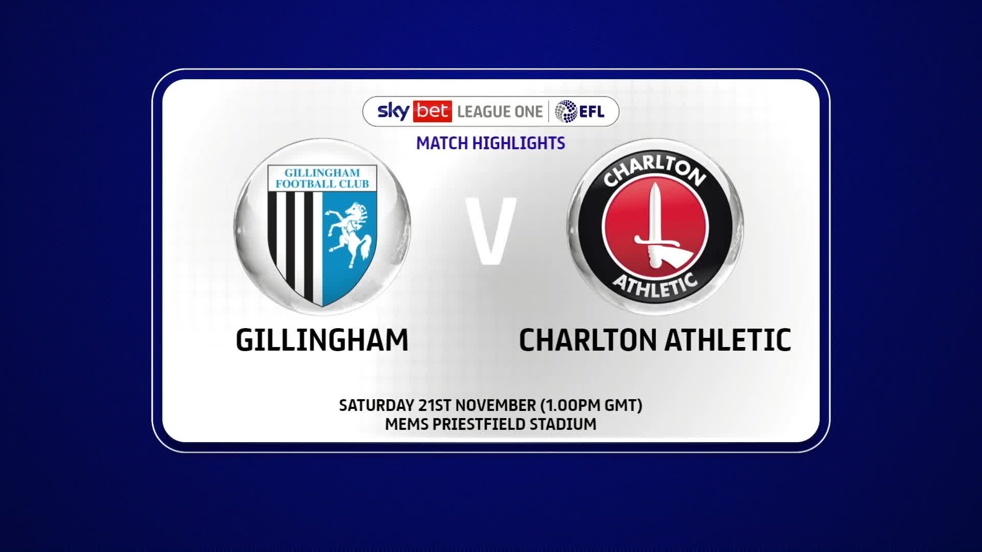 HIGHLIGHTS | Gillingham 1 Charlton 1 (November 2020)