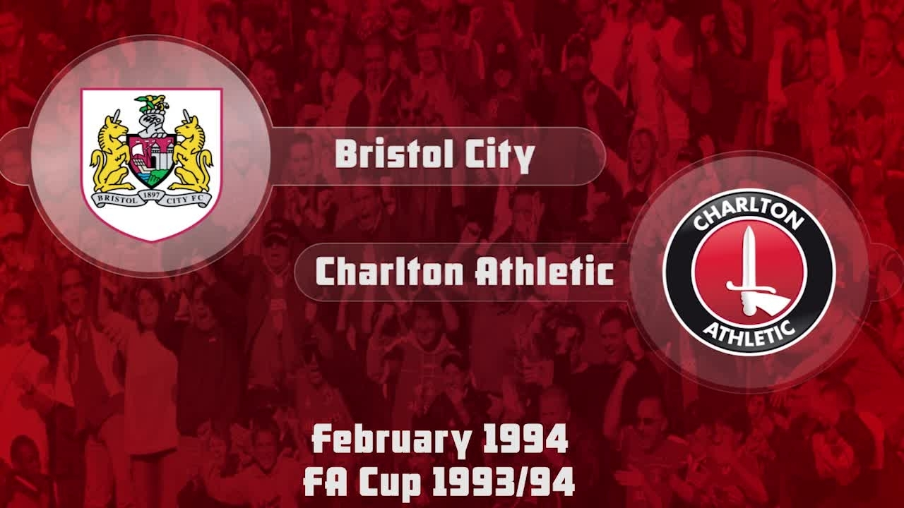 41 HIGHLIGHTS | Bristol City 1 Charlton 1 (FA Cup Feb 1994)