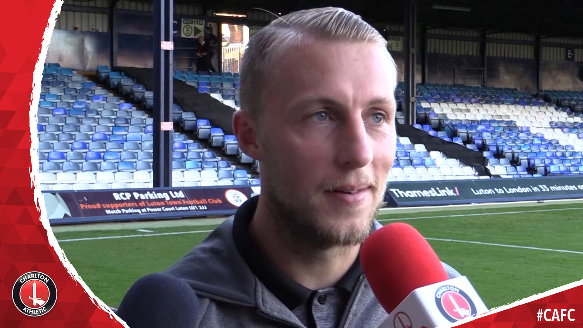 Chris Solly on scoring Charlton's last-gasp equaliser at Luton Town