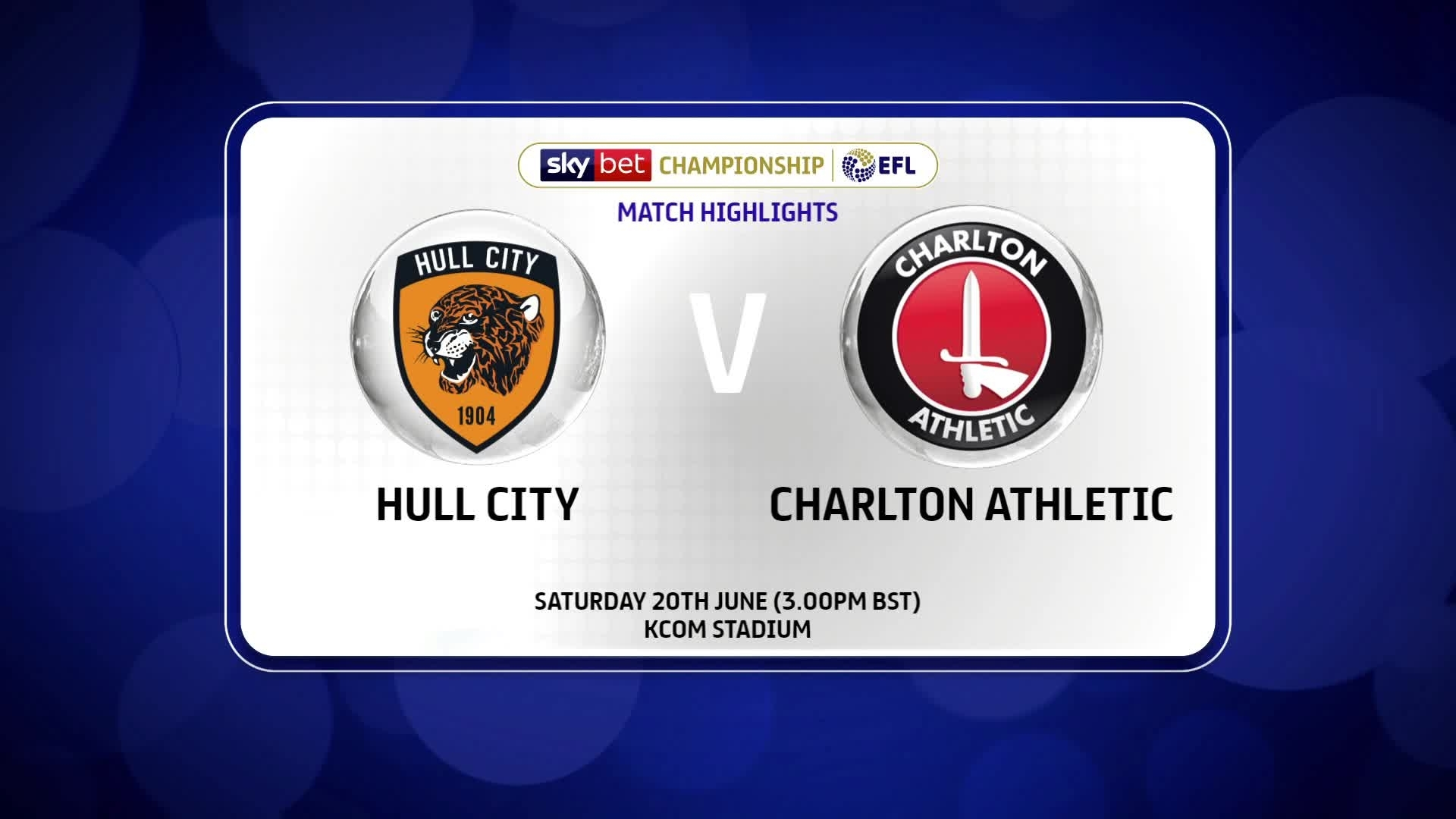 HIGHLIGHTS | Hull City 0 Charlton 1 (June 2020)