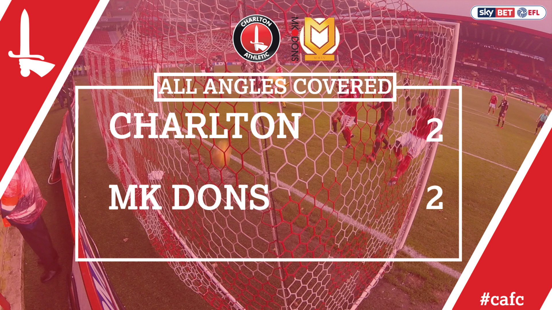 ALL ANGLES COVERED | Charlton 2 MK Dons 2