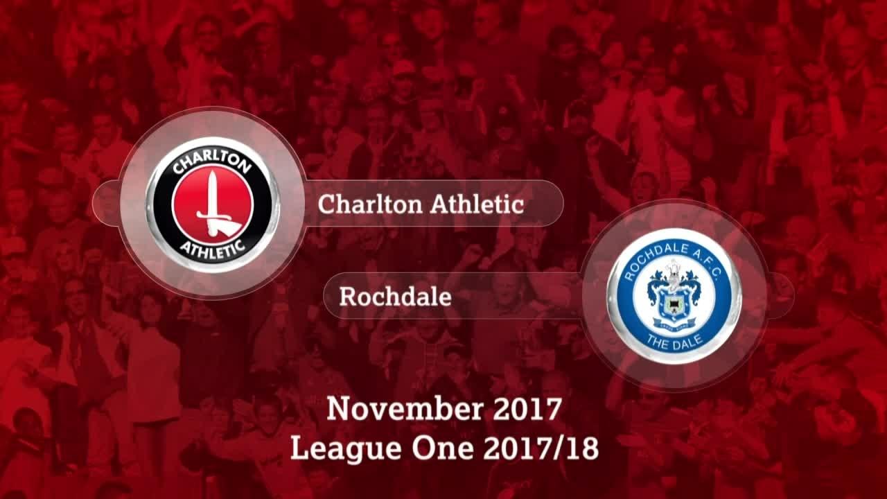GOALS   Charlton 2 Rochdale 1