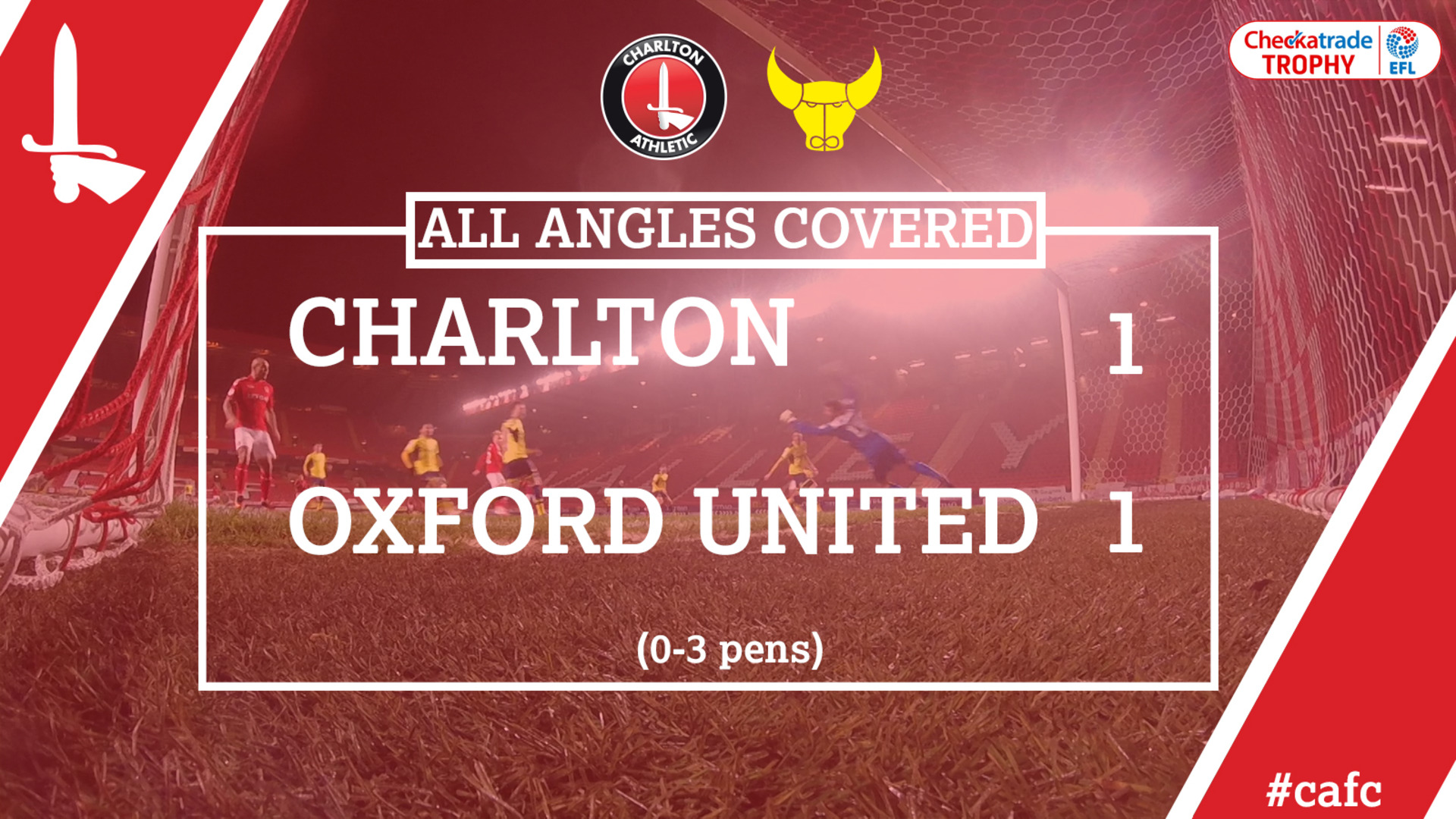 ALL ANGLES COVERED | Charlton 1 Oxford 1 (Checkatrade Trophy)