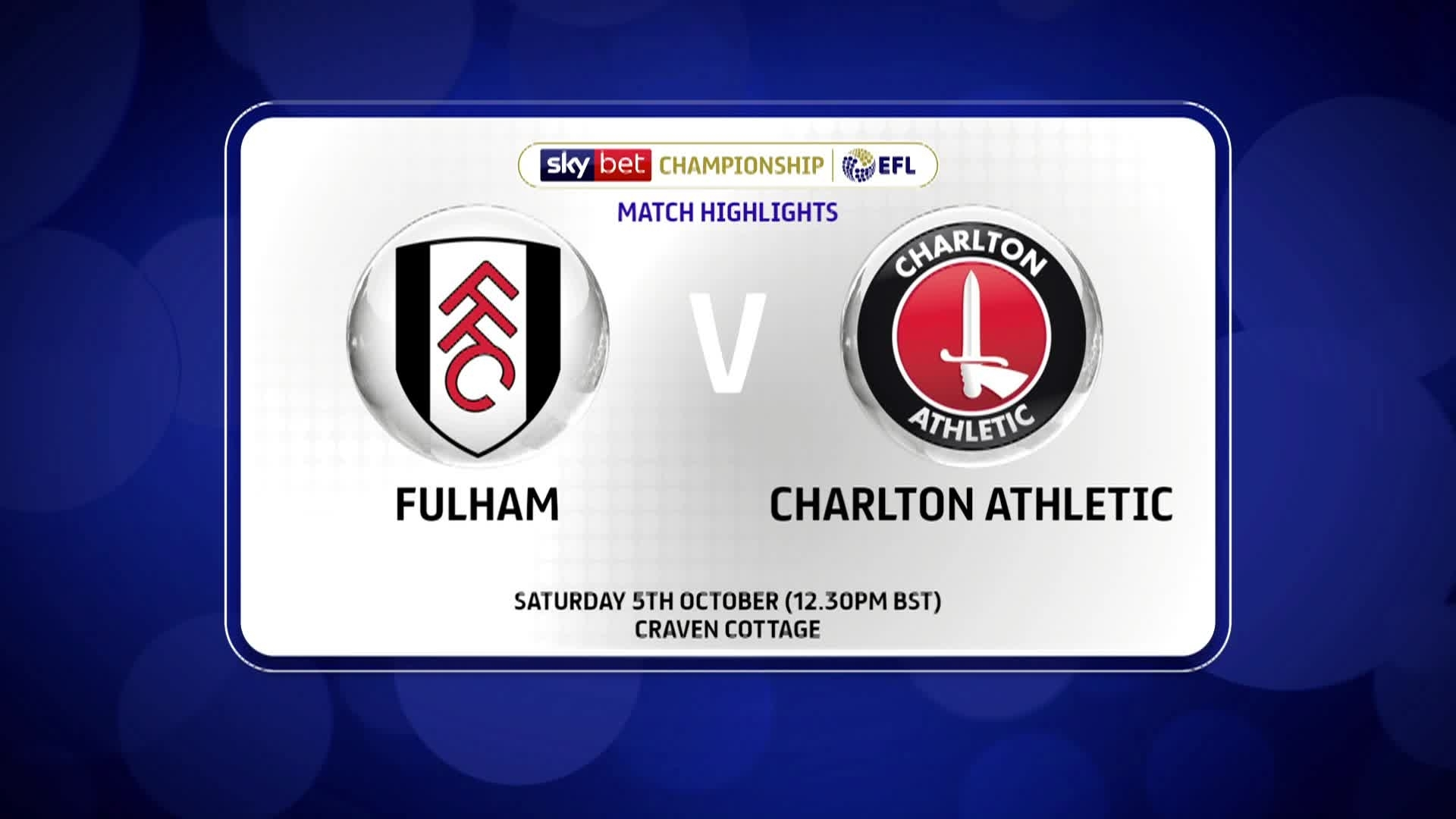 GOALS | Fulham 2 Charlton 2 (October 2019)